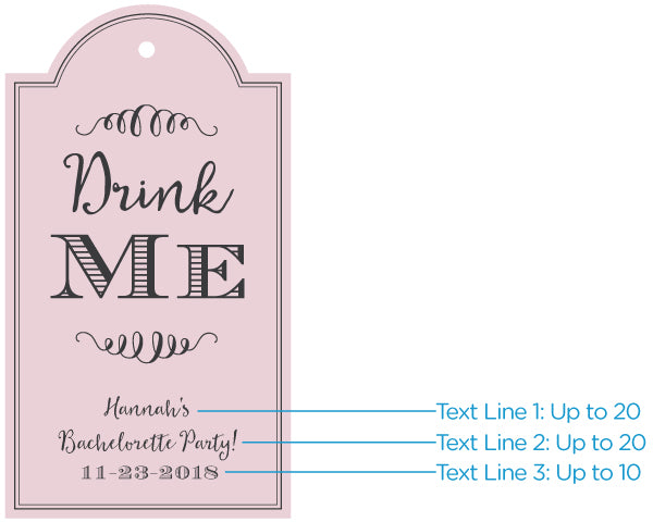 Personalized Pink Elegance Statement Tags (Set of 12)
