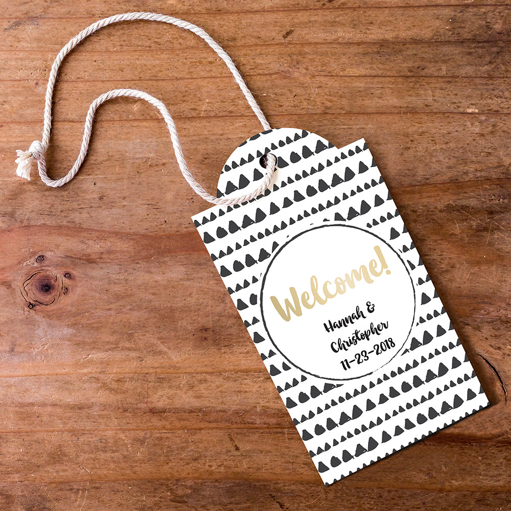 Personalized Modern Classic Statement Tags (Set of 12)