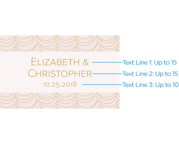 Personalized Modern Romance Mini Wine Bottle Labels