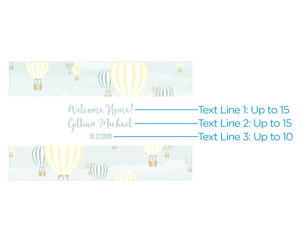 Personalized Gender Neutral Baby Shower Mini Wine Bottle Labels