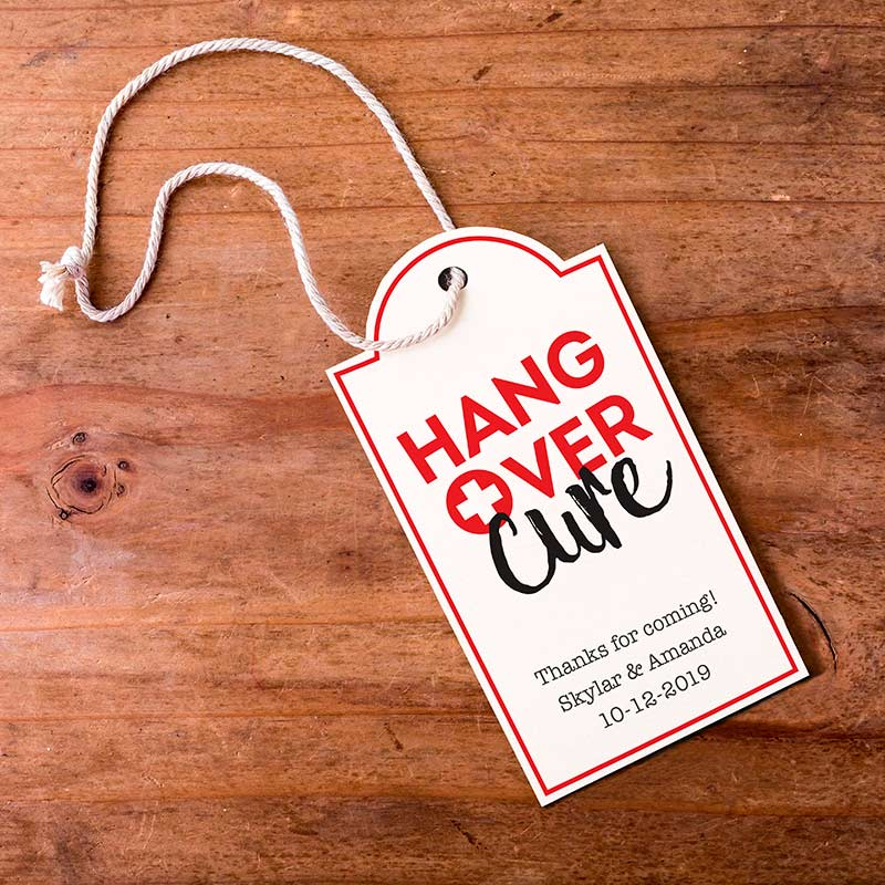Personalized Hangover Statement Tags (Set of 12)