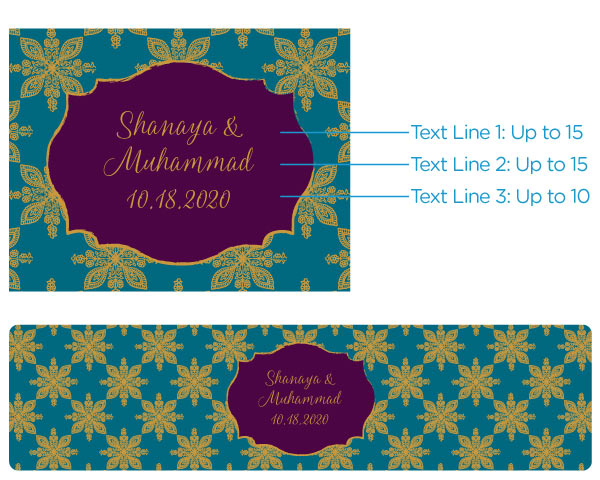 Personalized Indian Jewel Water Bottle Labels