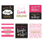Bachelorette Party Wine Bottle Label (Set of 6)