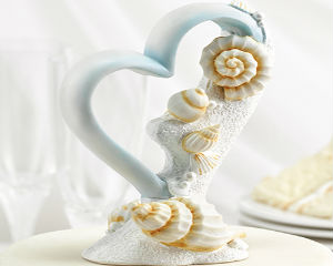 Load image into Gallery viewer, Seaside Jewels Wedding Cake Topper