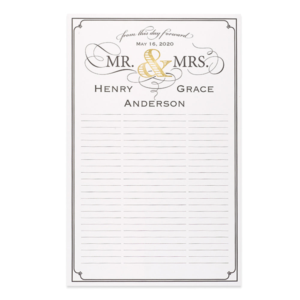 Personalized Mr. & Mrs. Signature Poster (11x17)