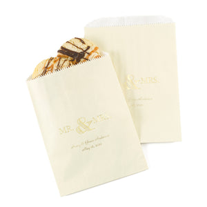 Personalized Mr. & Mrs. Treat Bags (Available in Multiple Colors) (Set of 50)