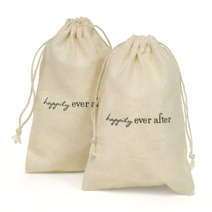 Ever After Cotton Favor Bags (Package of 25)