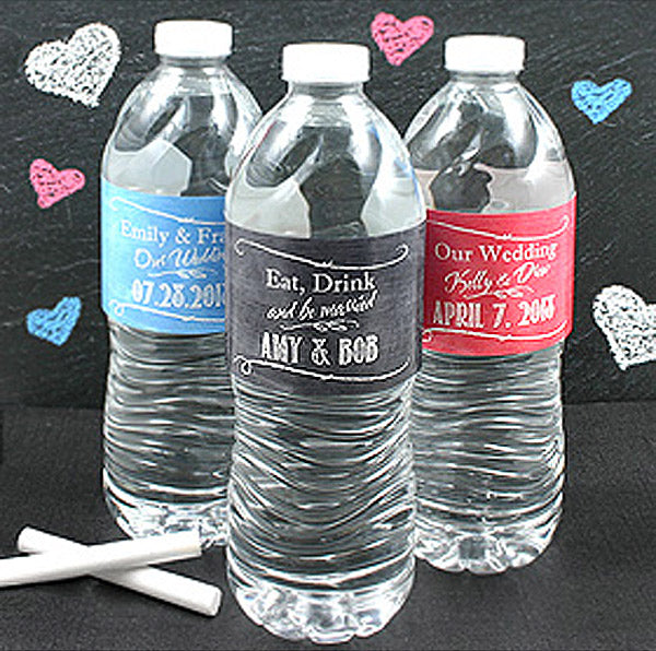 Personalized Silhouette Water Bottle Labels (Set of 5)