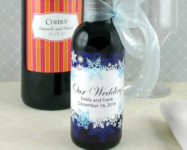 Personalized Wine Bottle Labels (Set of 6) | My Wedding Favors