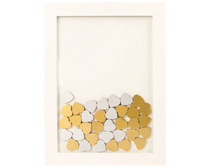 Gold Wood Hearts (Set of 25)