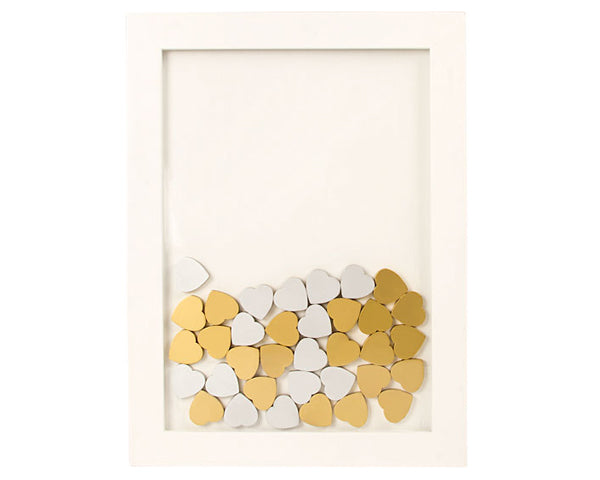 Silver Wood Hearts (Set of 25)