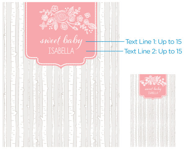 Personalized Photo Backdrop - Rustic Baby Shower - Trees