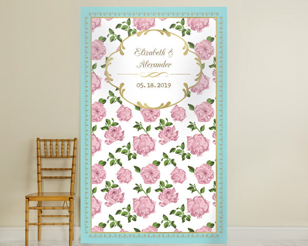Personalized Tea Time Photo Backdrop