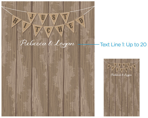 Personalized Just Hitched Photo Backdrop