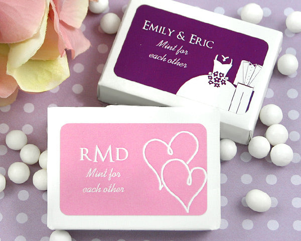 Personalized Mint Box Favor-Silhouette Collection | My Wedding Favors
