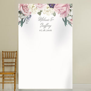 Personalized English Garden Photo Backdrop