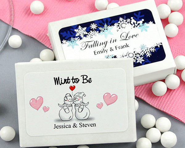 Personalized Mint Box Wedding Favors (Many Designs Available)