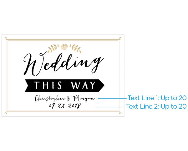 Personalized Wedding Directional Sign (18x12)