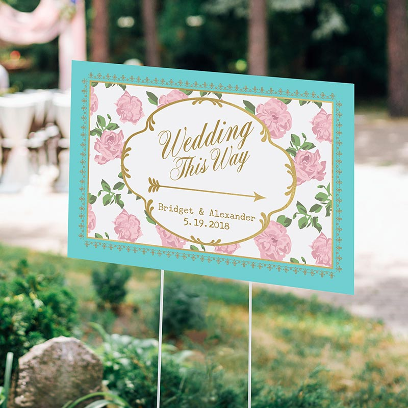 Personalized Tea Time Directional Sign (18x12)