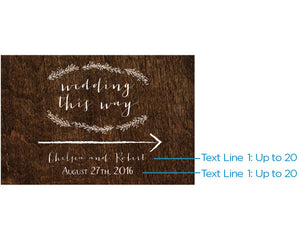 Personalized Rustic Directional Sign (18x12)