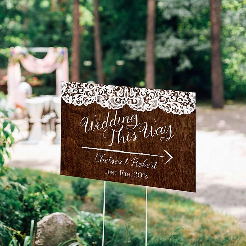 Personalized Country Directional Sign (18x12)