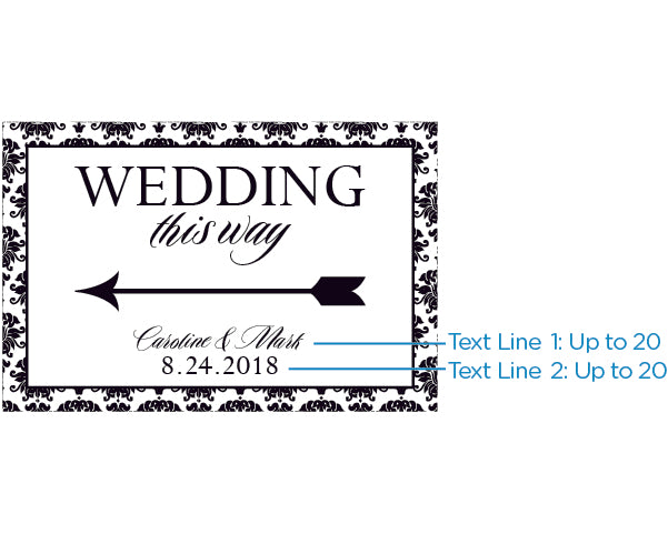 Personalized Damask Directional Sign (18x12)