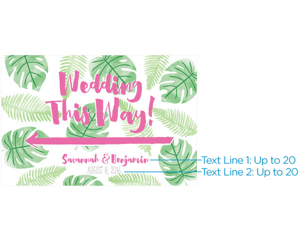 Personalized Pineapples & Palms Directional Sign (18x12)