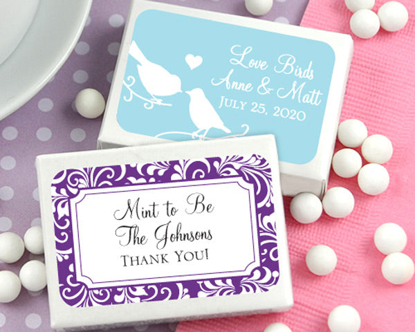 Personalized Mint Box Favors - Exclusive Designs