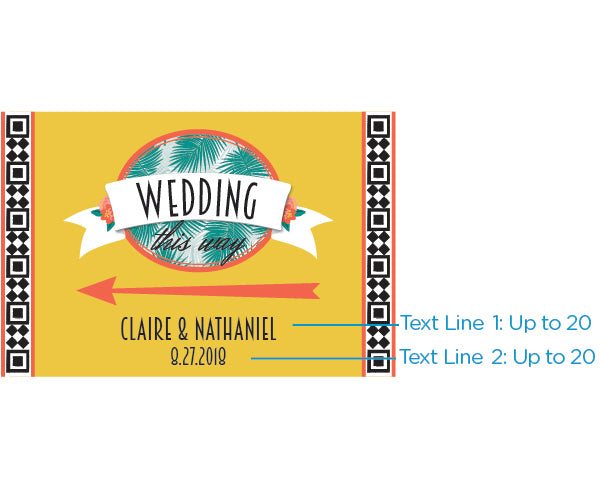 Personalized Tropical Chic Directional Sign (18x12)