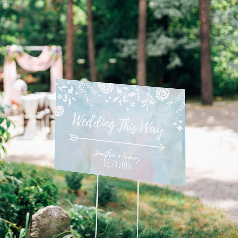 Personalized Ethereal Dream Directional Sign (18x12)