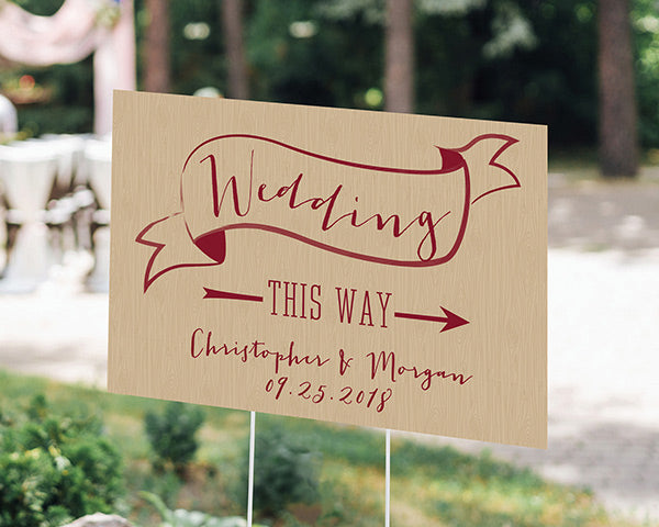 Personalized Vineyard Directional Sign (18x12)