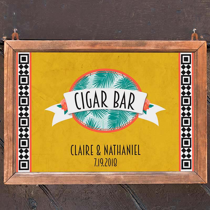 Personalized Tropical Chic Sign (18x12)