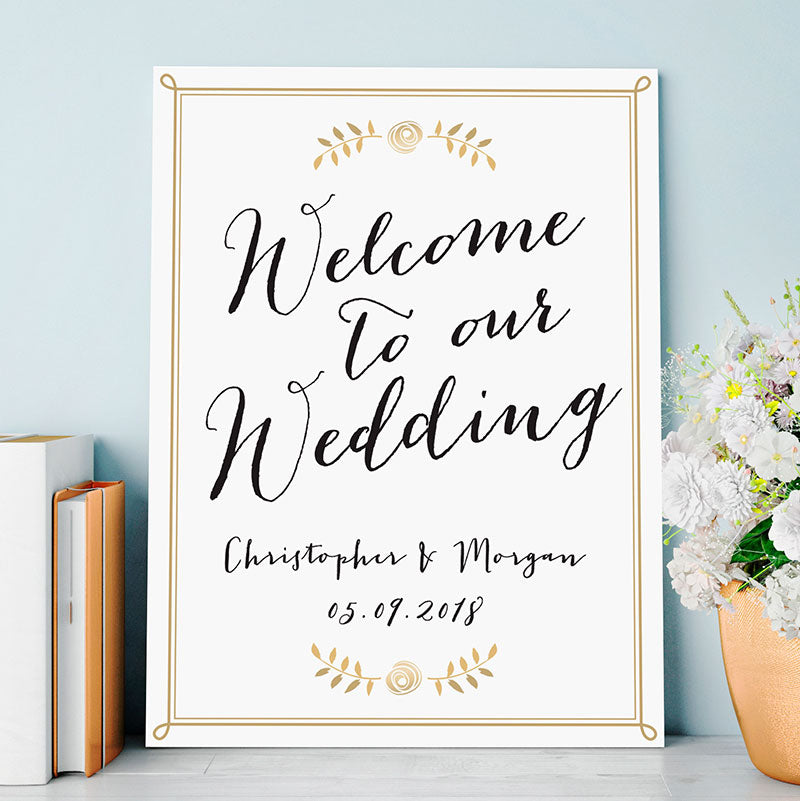 Personalized Wedding Poster (18x24)