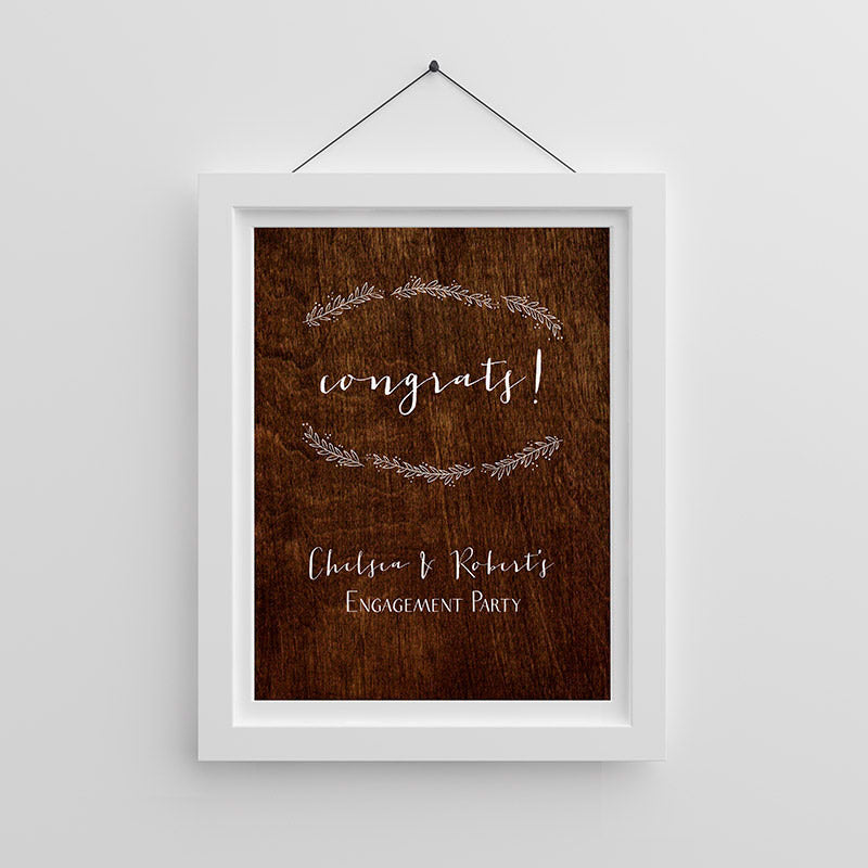 Personalized Rustic Poster (18x24)