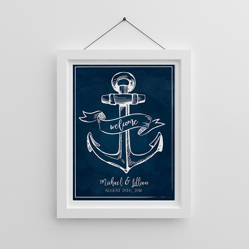Personalized Nautical Poster (18x24)