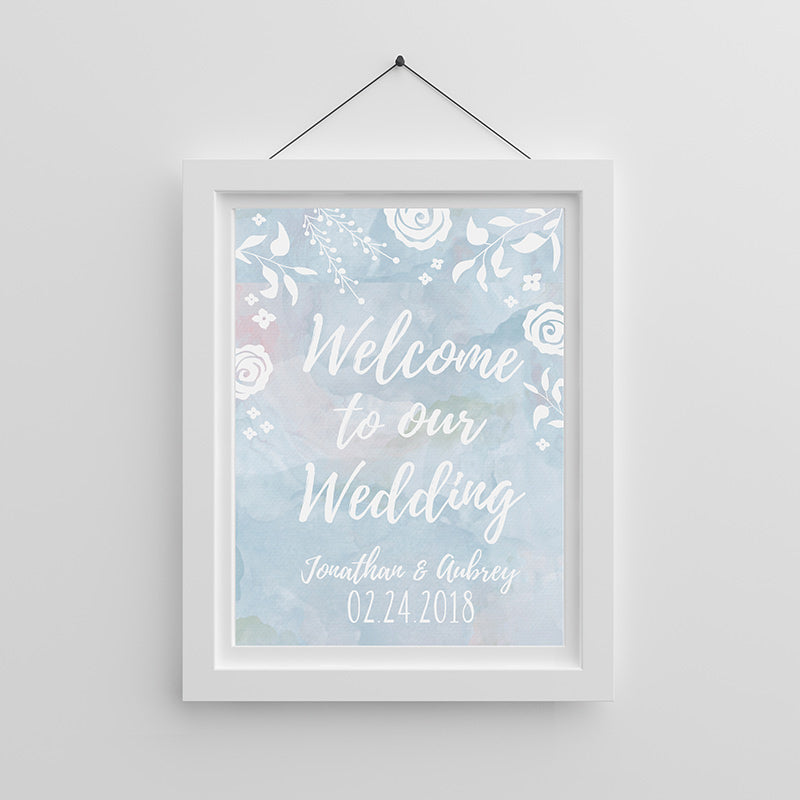 Personalized Ethereal Wedding Poster (18x24)