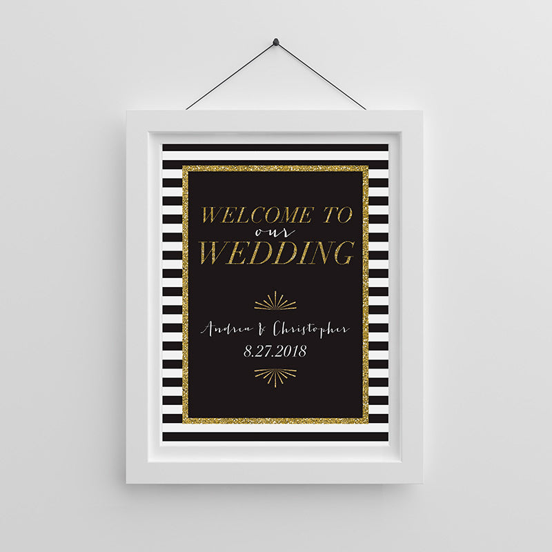 Personalized Classic Wedding Poster (18x24)