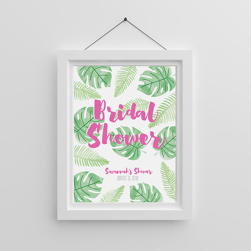 Personalized Pineapples & Palms Poster (18x24)