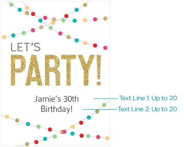 Personalized Let's Party! Poster (18x24)
