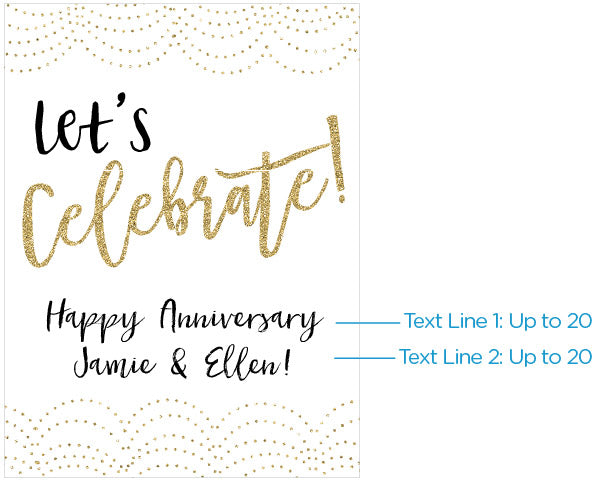 Personalized Let's Celebrate! Poster (18x24)