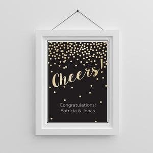 Personalized Cheers! Poster (18x24)