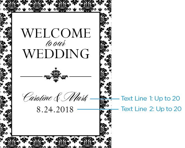 Personalized Damask Poster (18x24)