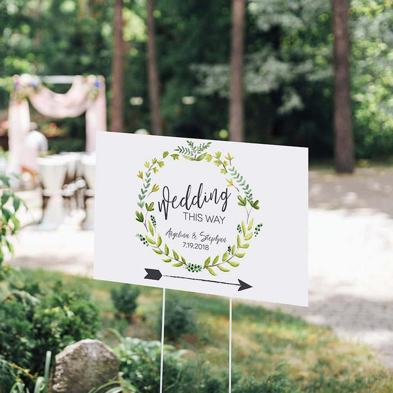Personalized Botanical Garden Directional Sign (18x12)