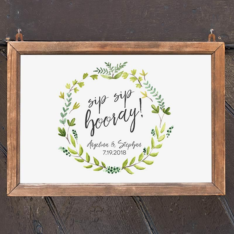 Personalized Botanical Garden Sign (18x12)