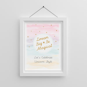 Personalized Enchanted Party Poster (18x24)