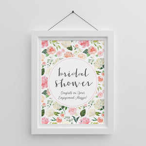 Personalized Brunch Bridal Shower Poster (18x24)