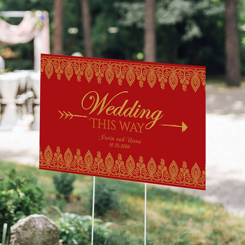 Personalized Indian Jewel Directional Sign (18x12)