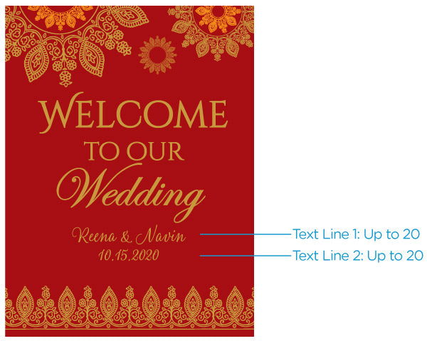 Personalized Indian Jewel Wedding Poster (18x24)