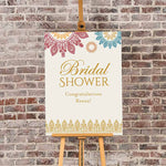 Personalized Indian Jewel Bridal Shower Poster (18x24)