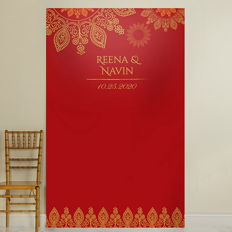 Personalized Indian Jewel Photo Backdrop